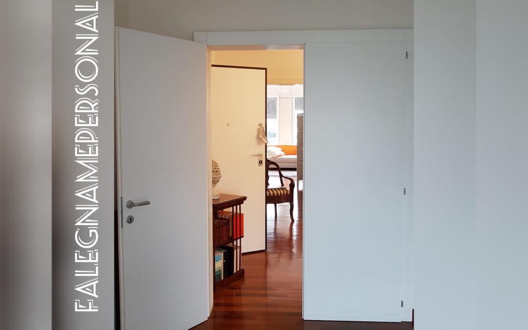 Doppia porta battente in legno su misura